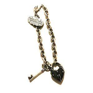Wonderland Lock & Key Charm Bracelet